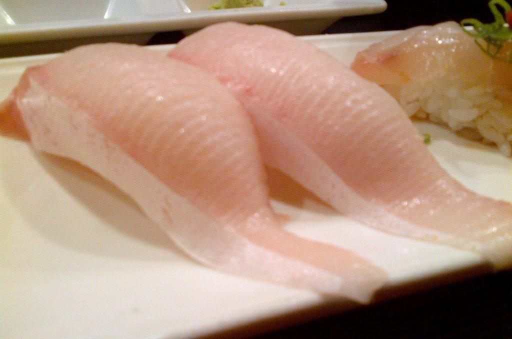 Halibut (oba, yuzukoso, sea salt, lemon)