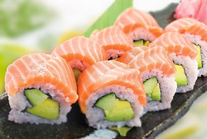 Salmon with Avocado (creamy jalapeno)