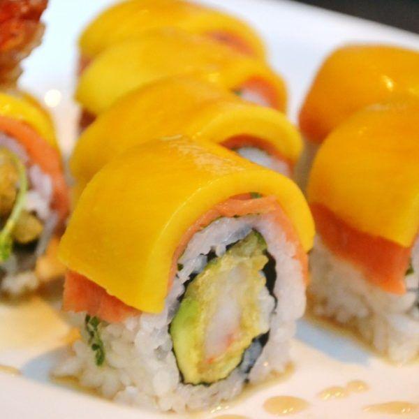 Salmon with Mango (mango puree)